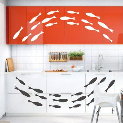 swimming fish set decals Vinyl Wall..