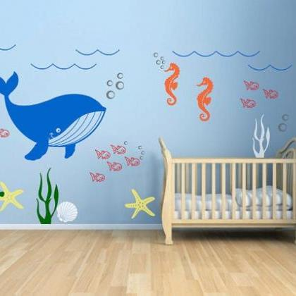 baby nursery decal -Underwater Seaw..