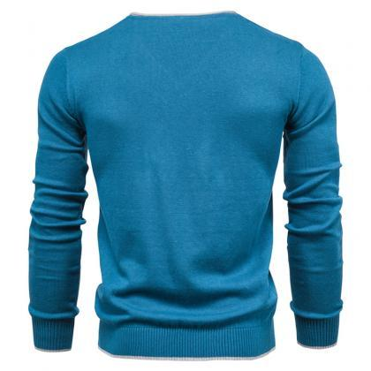 New 100% Cotton Pullover V-neck Me..