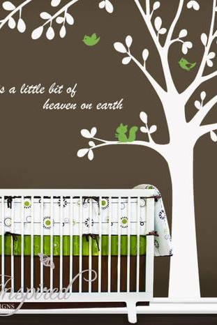 cute bird tree Custom name Quote leaf leaves birds lovely wall decal vinyl home Art Decals Wall Sticker stickers kids room bed baby kid H665