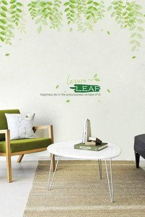 large fresh hanging pine green leaf Decal - nature plants living room wall stickers - dropping leaves Home decor - creative Greenery botany
