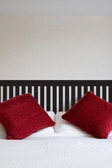 Headboard vinyl wall decal queen full twin Size Bed Wooden Slate fence Decals home wall sticker stickers decor