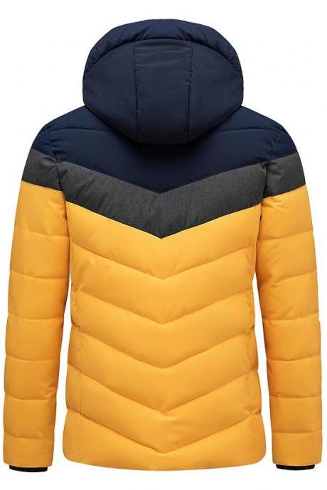 Winter Brand New Casual Warm Thick Waterproof Jacket Parkas Coat Men New Autumn Outwear A015